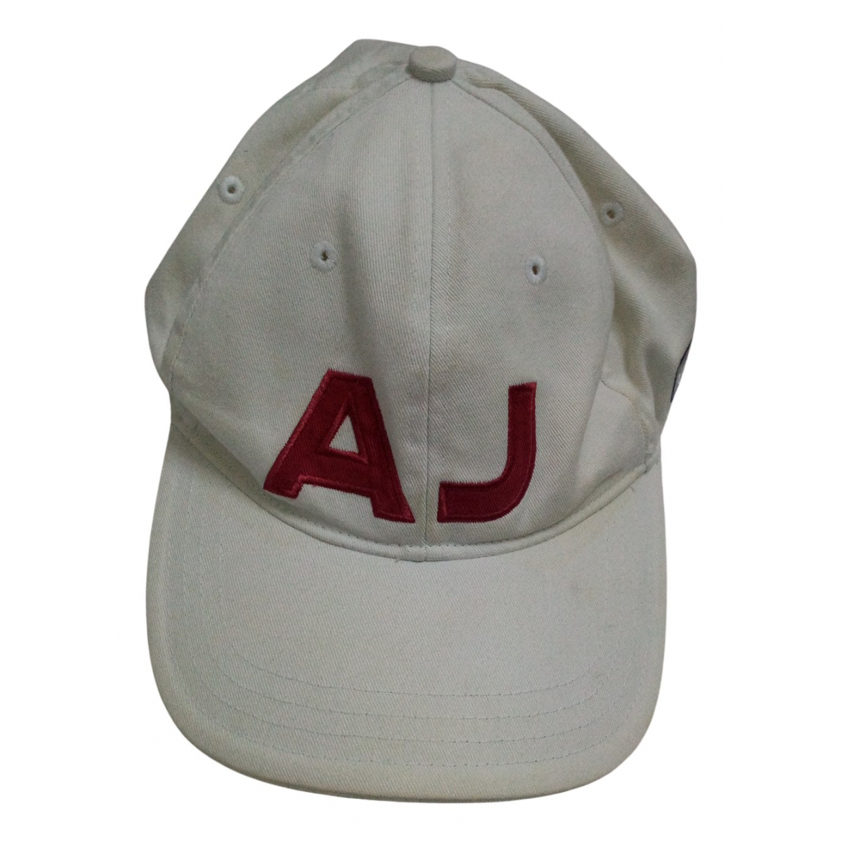 Armani Jeans N White Cotton hat & pull on hat for Men 57 cm