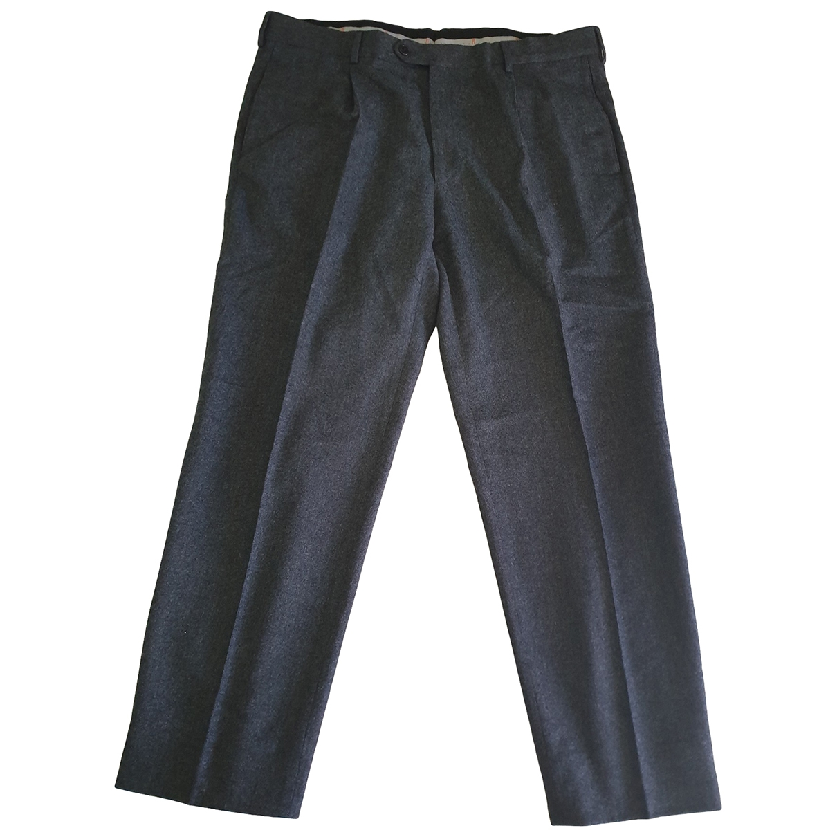 M Missoni \N Anthracite Wool Trousers for Men L International