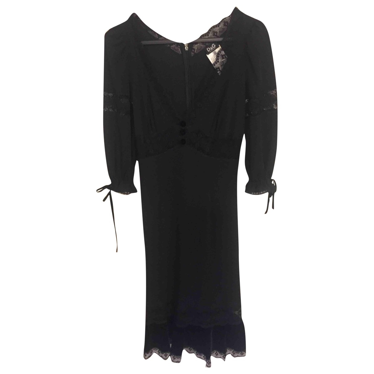 D&g \N Kleid in  Schwarz Viskose
