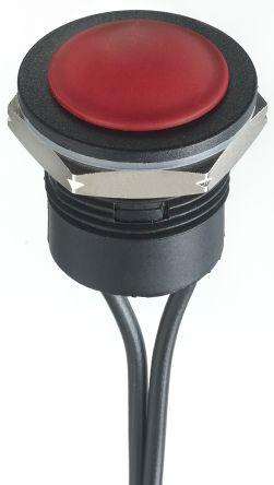 APEM Single Pole Single Throw (SPST) Momentary Push Button Switch, IP65, IP67, 16.2 (Dia.)mm, Panel Mount, 24V dc