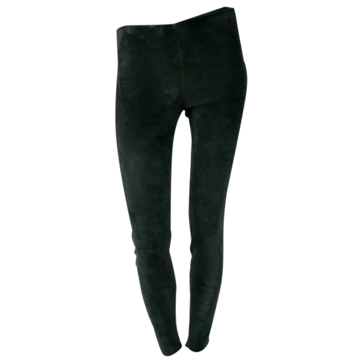 Saint Laurent N Black Suede Trousers for Women 18 US