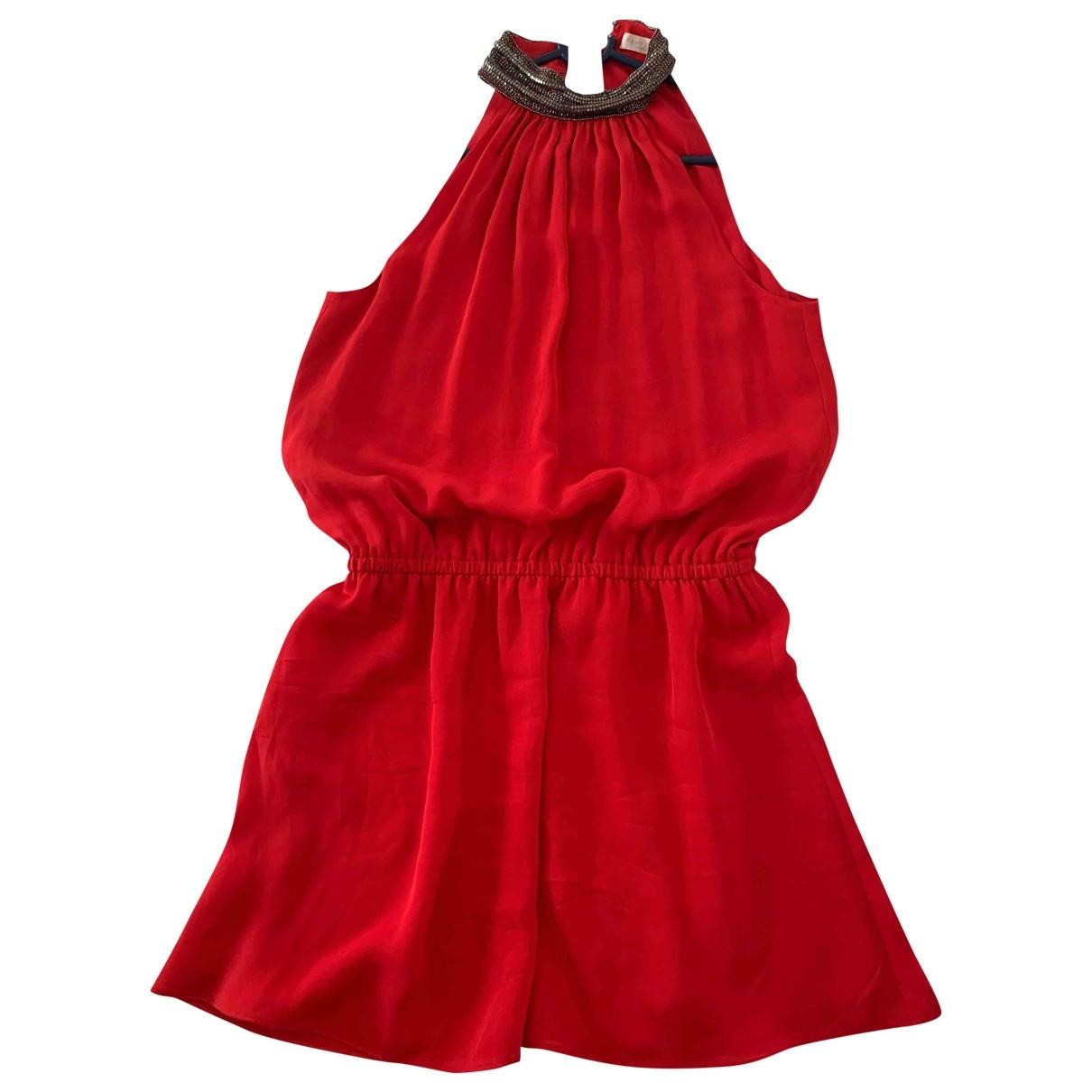 Ramy Brook \N Kleid in  Rot Seide
