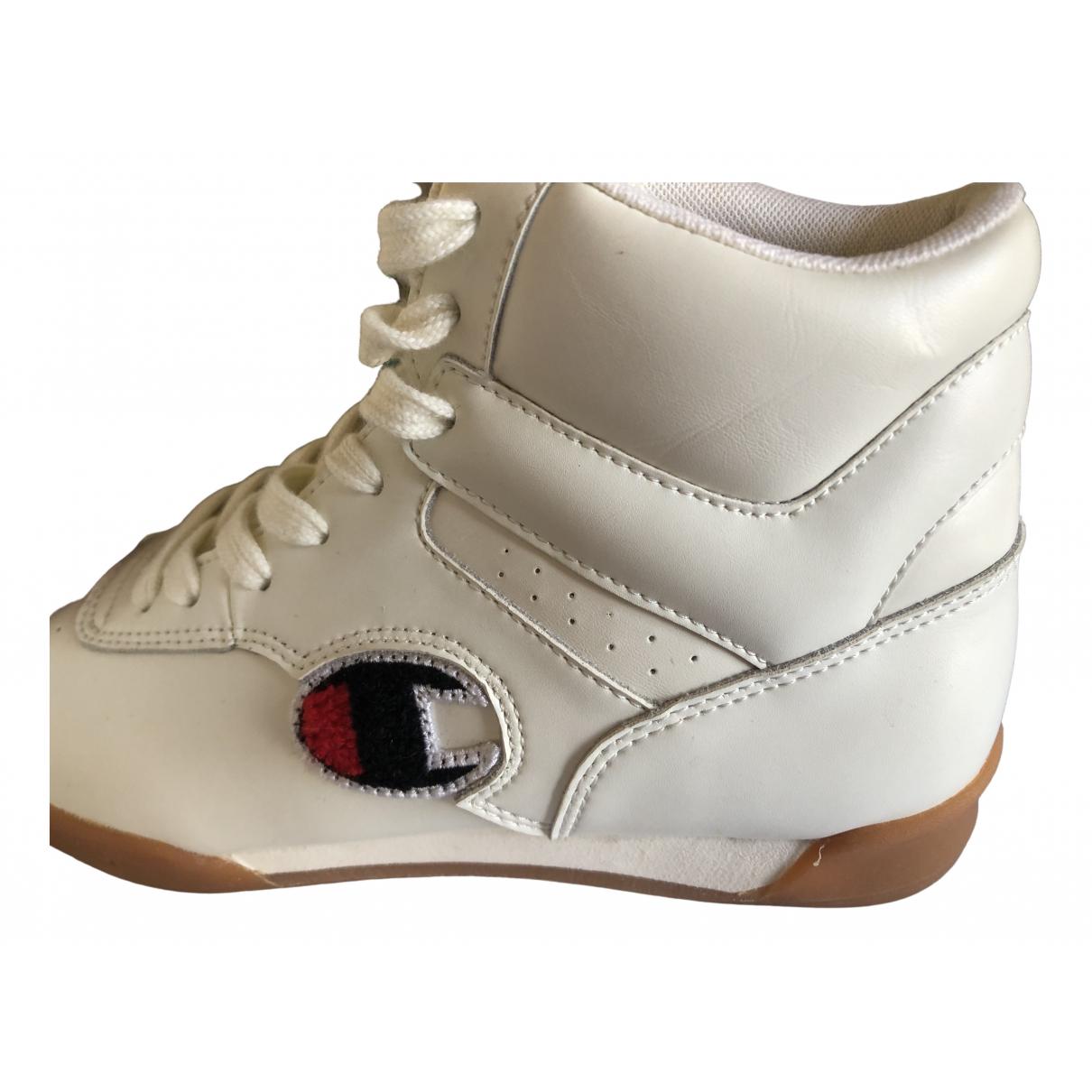 Champion - Baskets   pour femme en cuir - blanc