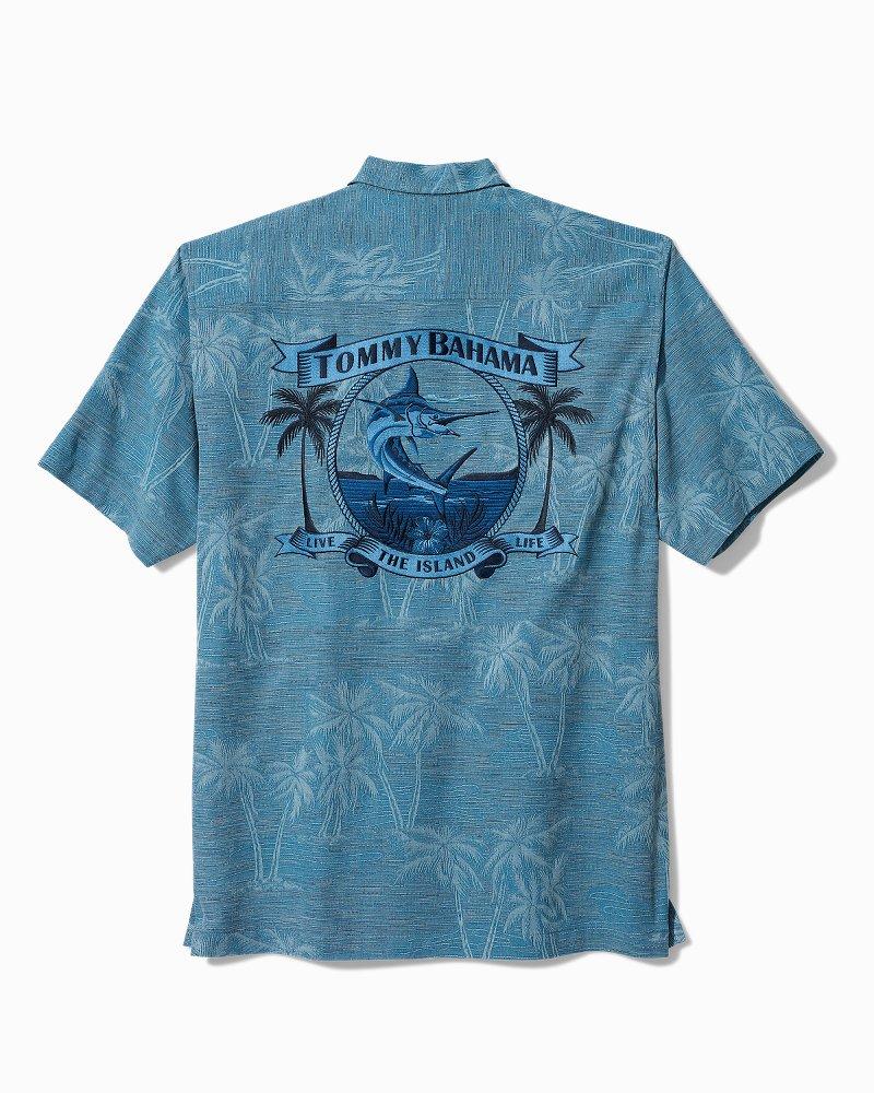 Big & Tall Jumping Marlin Panelback Camp Shirt