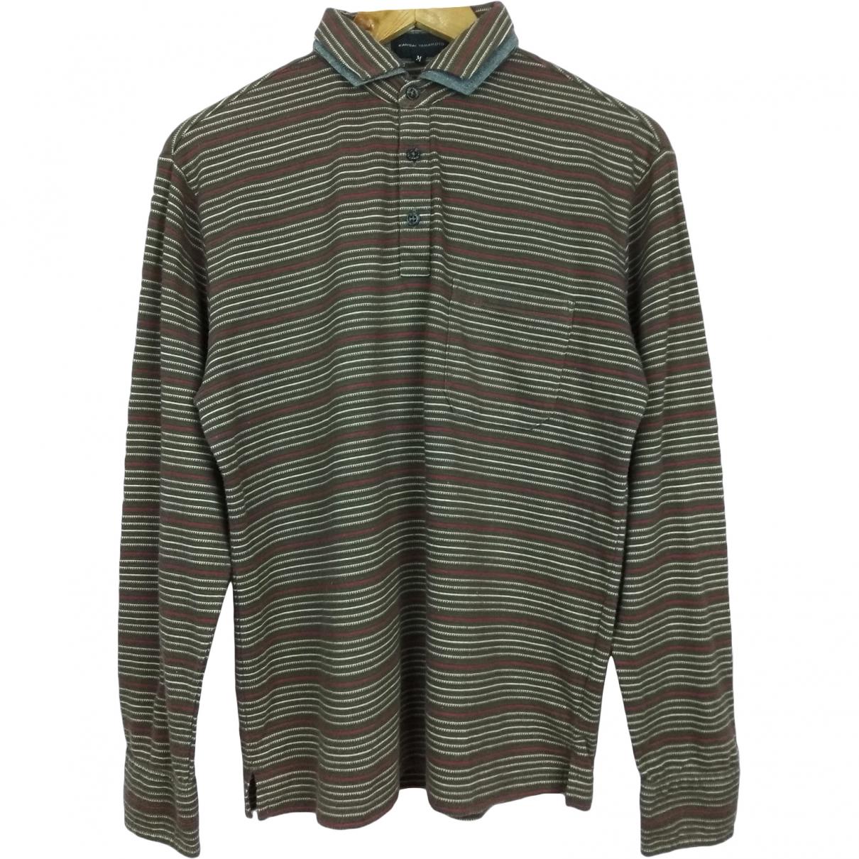 Kansai Yamamoto \N Brown Cotton Polo shirts for Men M International