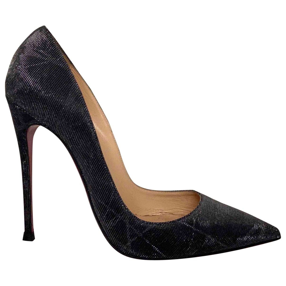 Christian Louboutin So Kate  Pumps in  Metallic Mit Pailletten
