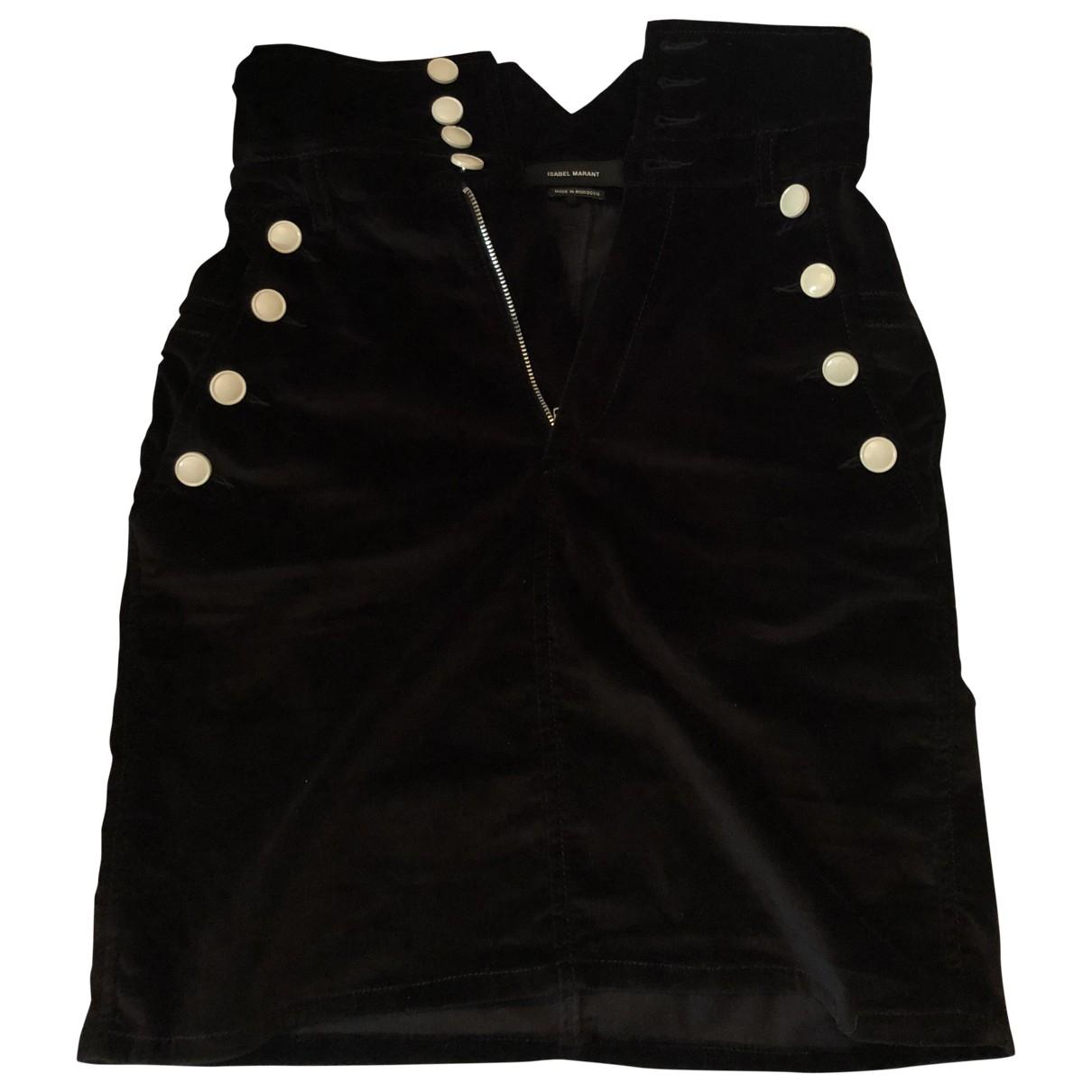 Isabel Marant \N Black Cotton skirt for Women 36 FR