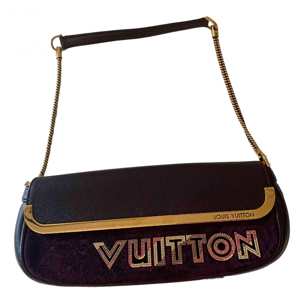 Louis Vuitton N Purple Suede Clutch bag for Women N