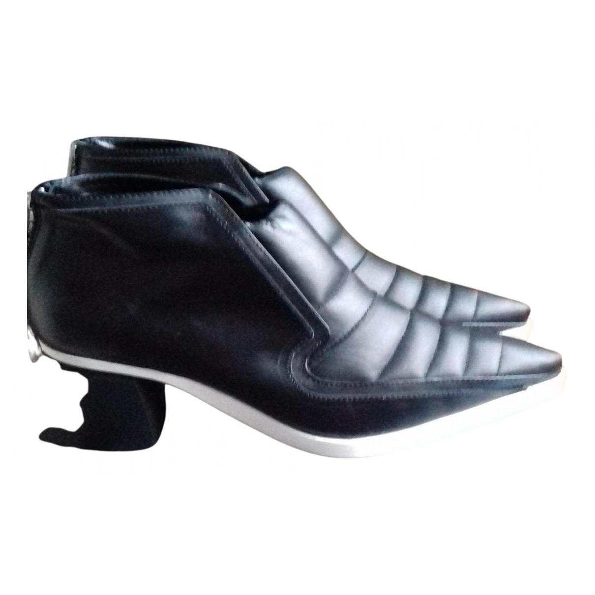 Mcq \N Stiefeletten in  Schwarz Leder
