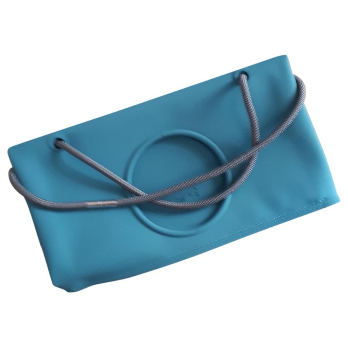Non Signé / Unsigned \N Navy handbag for Women \N