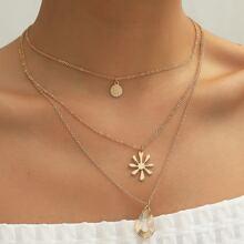 3pcs Water Drop Charm Necklace