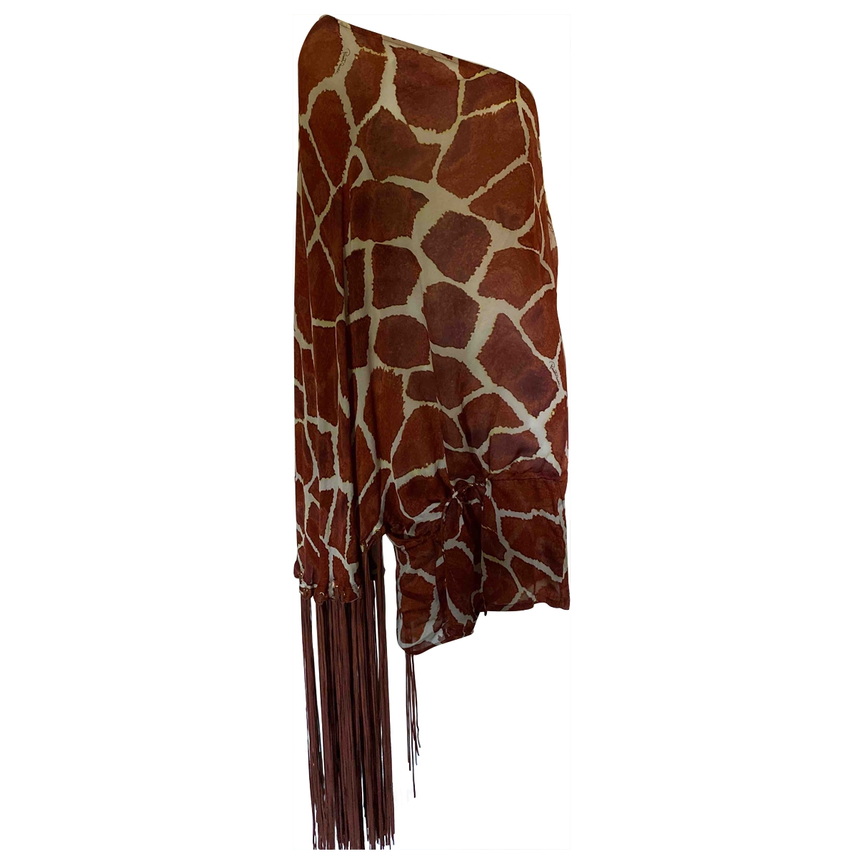Roberto Cavalli \N Brown Silk  top for Women 42 IT