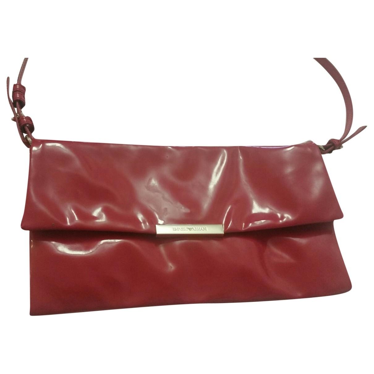 Emporio Armani - Sac a main   pour femme en cuir verni - rouge