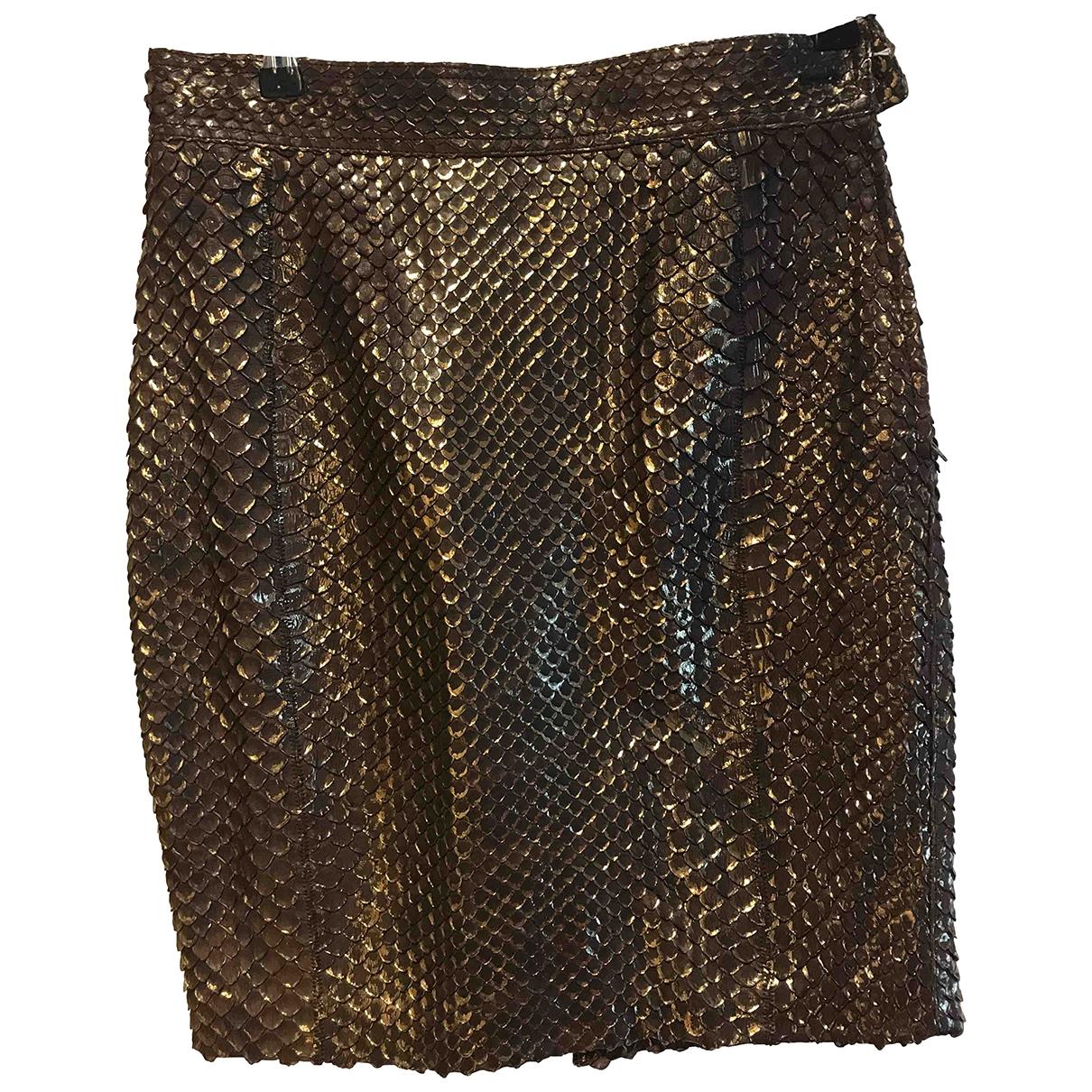 Mini falda de Piton Gianfranco Ferre