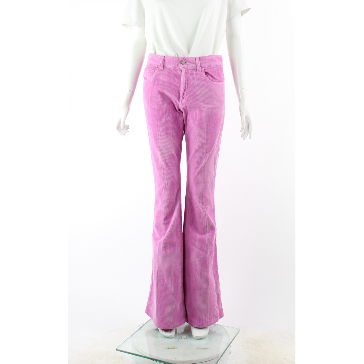 Gucci \N Pink Cotton Jeans for Women 22 US