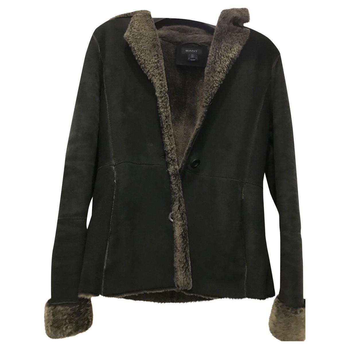 Gant Rugger - Veste   pour femme en mouton - noir
