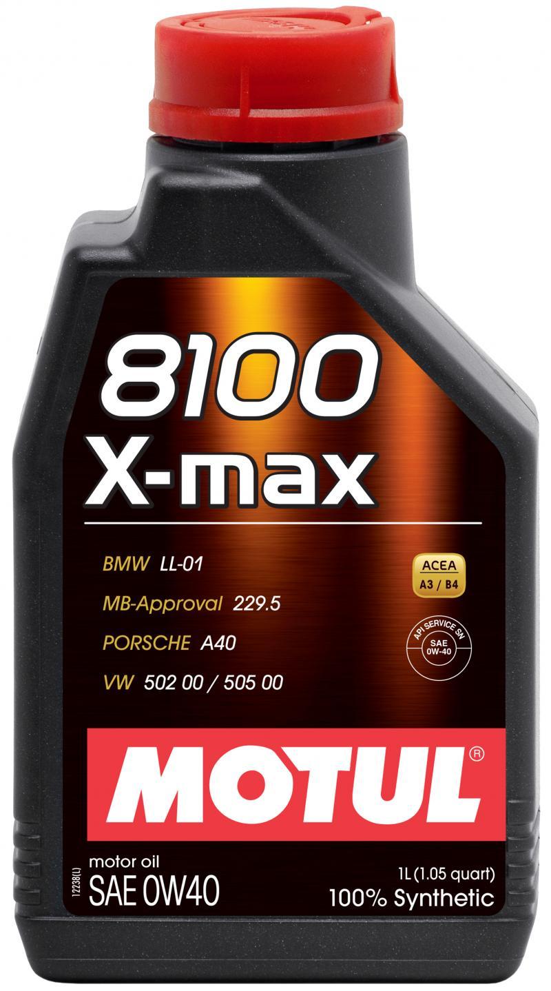 Motul 8100 X-MAX 0W40 - 1L - Synthetic Engine Oil