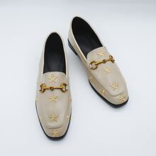 Loafers mit Stern Stickereien