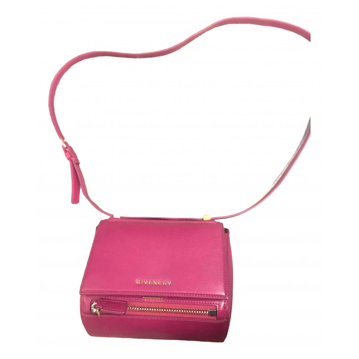 Givenchy - Sac a main Pandora Box pour femme en cuir - violet