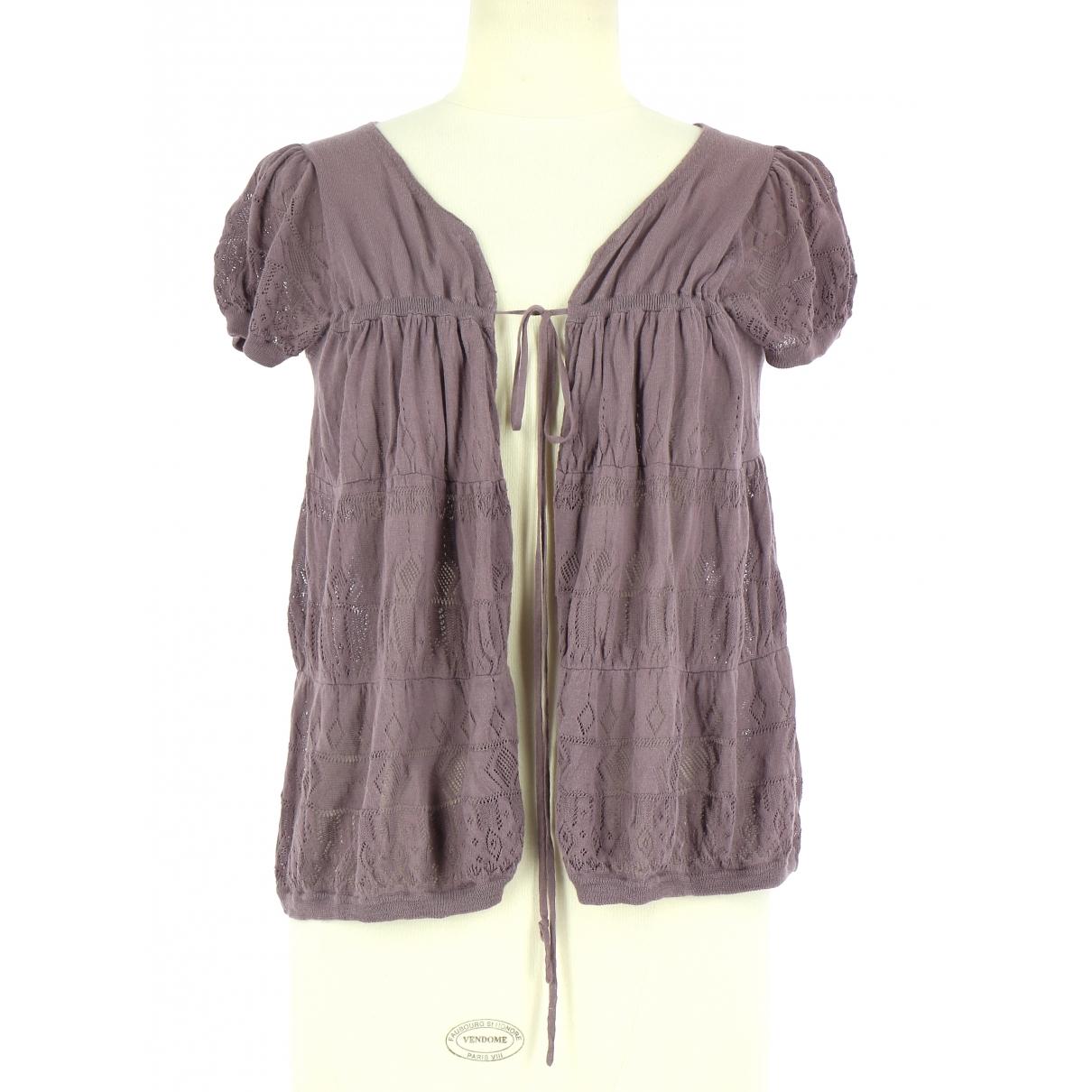 Comptoir Des Cotonniers \N Purple Cotton Knitwear for Women 36 FR