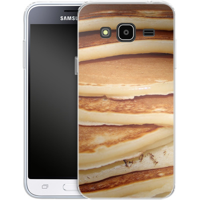 Samsung Galaxy J3 (2016) Silikon Handyhuelle - Pancakes von caseable Designs