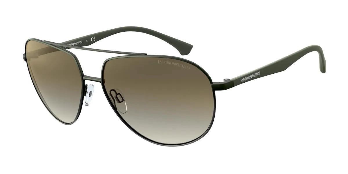 Emporio Armani EA2096 33188E Men's Sunglasses Green Size 60