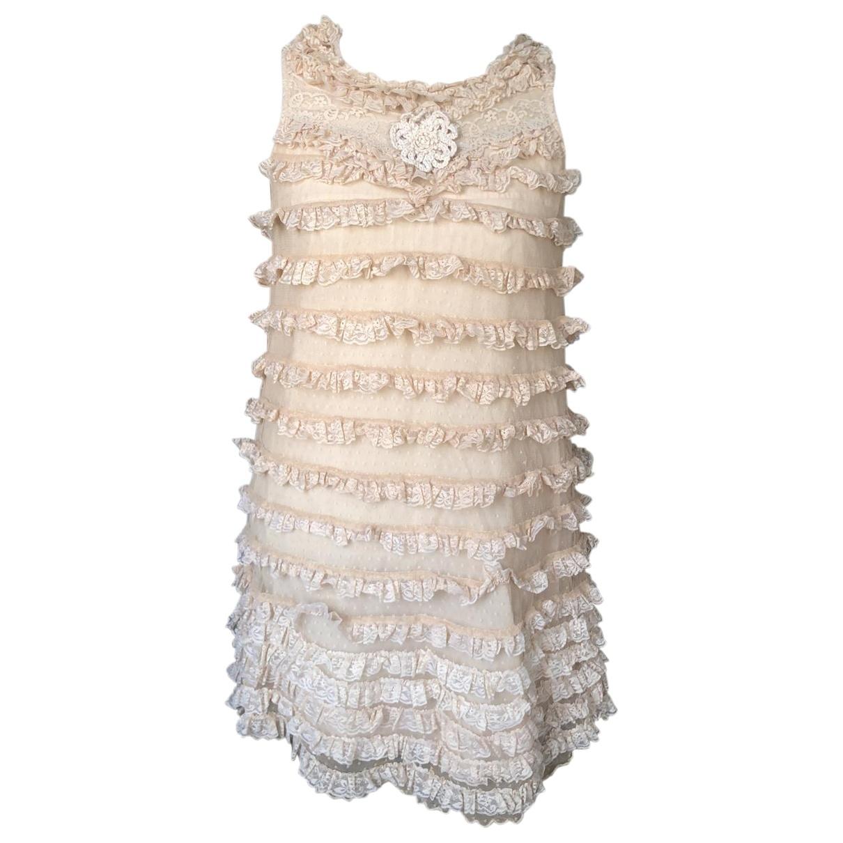 Manoush \N Beige Cotton - elasthane dress for Women S International