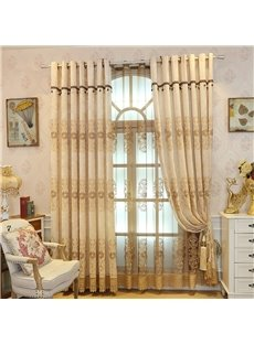 European and Elegant Style Fancy Organza Decorative and Breathable Sheer Curtain