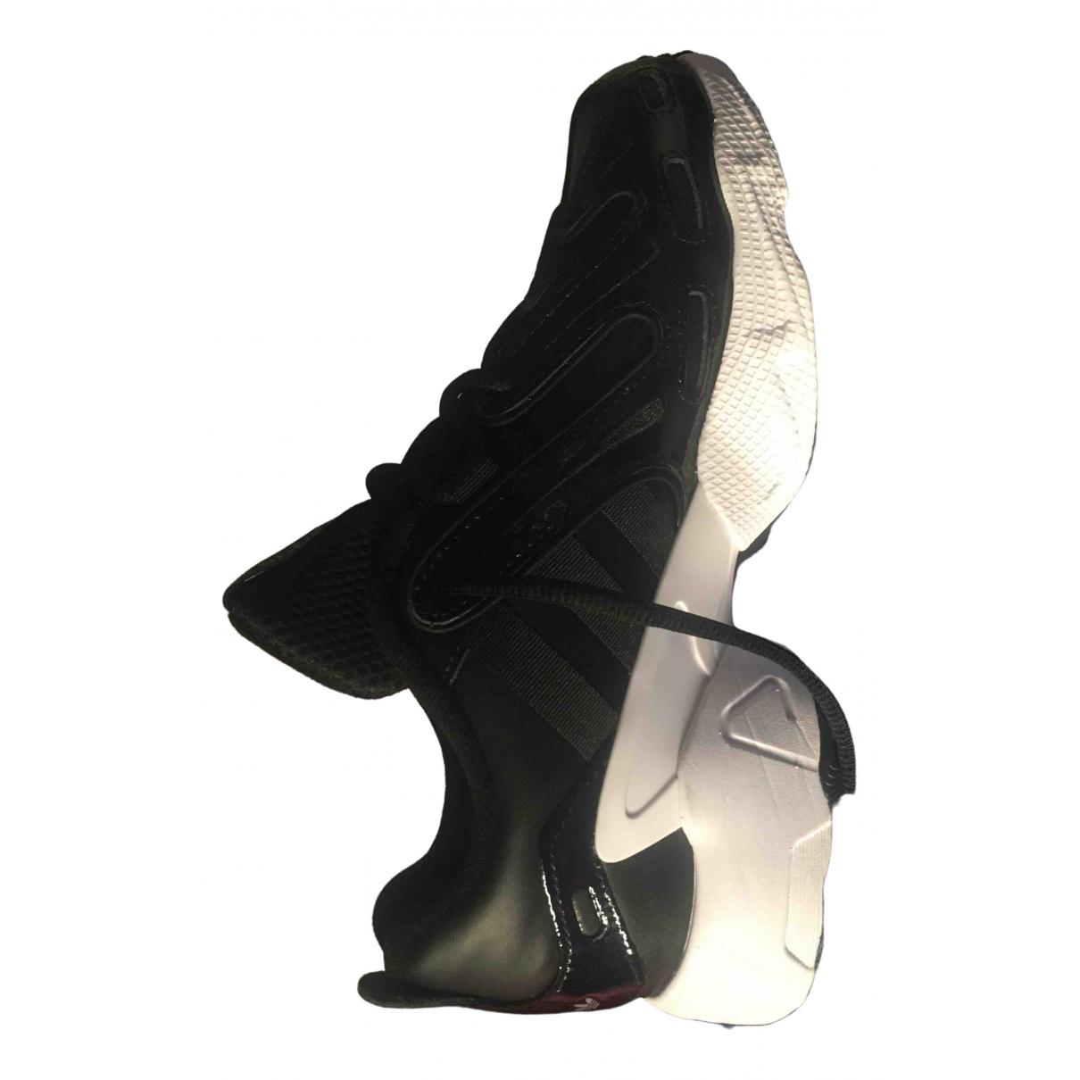 Adidas - Baskets   pour femme en cuir verni - noir