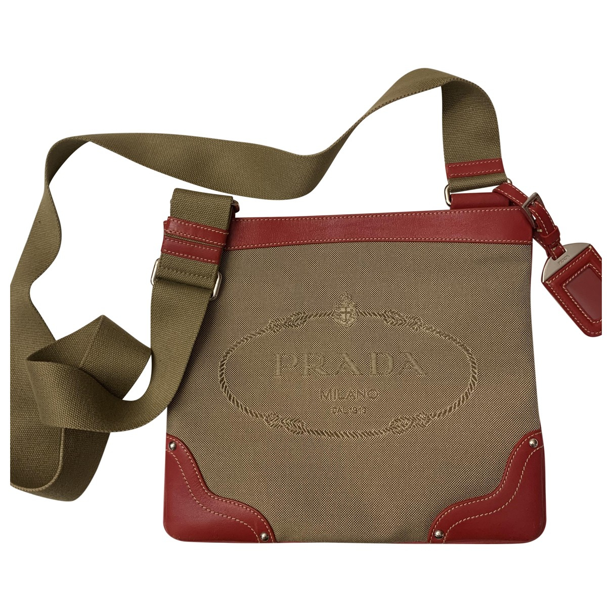 Prada Tessuto  Beige Cloth Clutch bag for Women \N