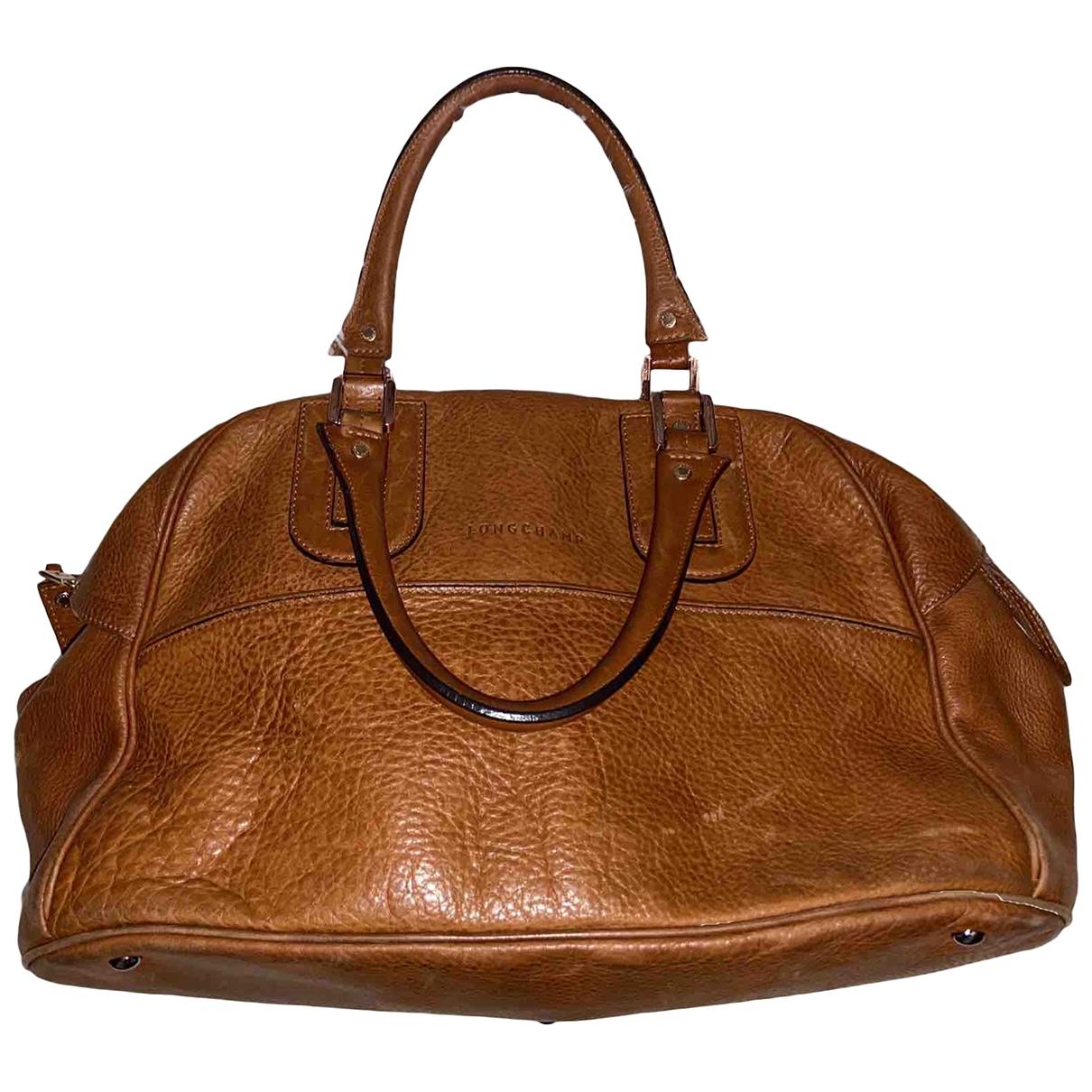 Longchamp - Sac a main Cosmos pour femme en cuir - camel