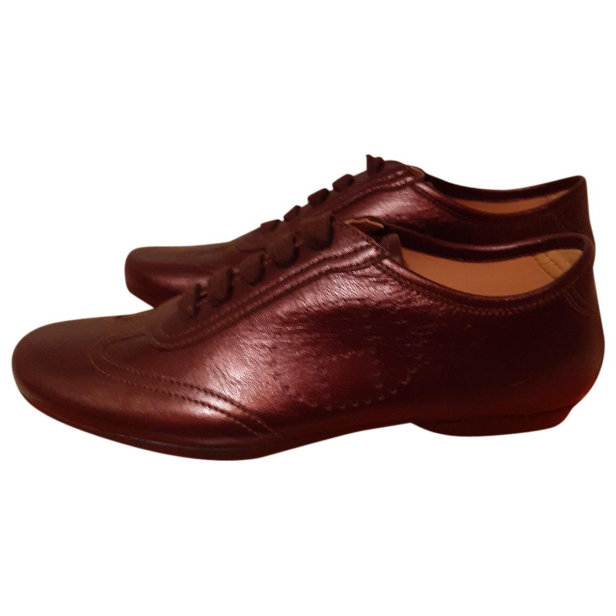 Hermes \N Sneakers in  Braun Leder