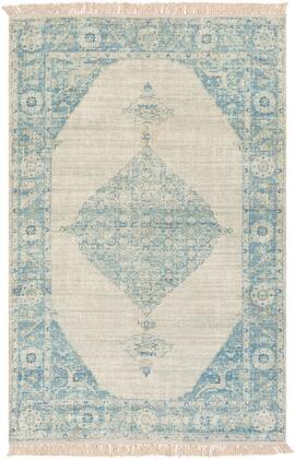 Zainab ZAI-2307 8' x 10' Rectangle Traditional Rugs in Sky Blue  Navy  Sage  Lime  Dark Green
