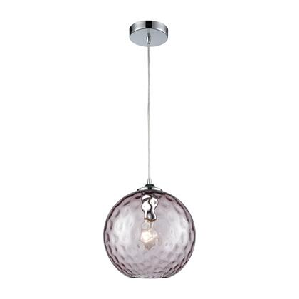 31380/1PRP Watersphere 1 Light Pendant in Polished Chrome with Purple Hammered