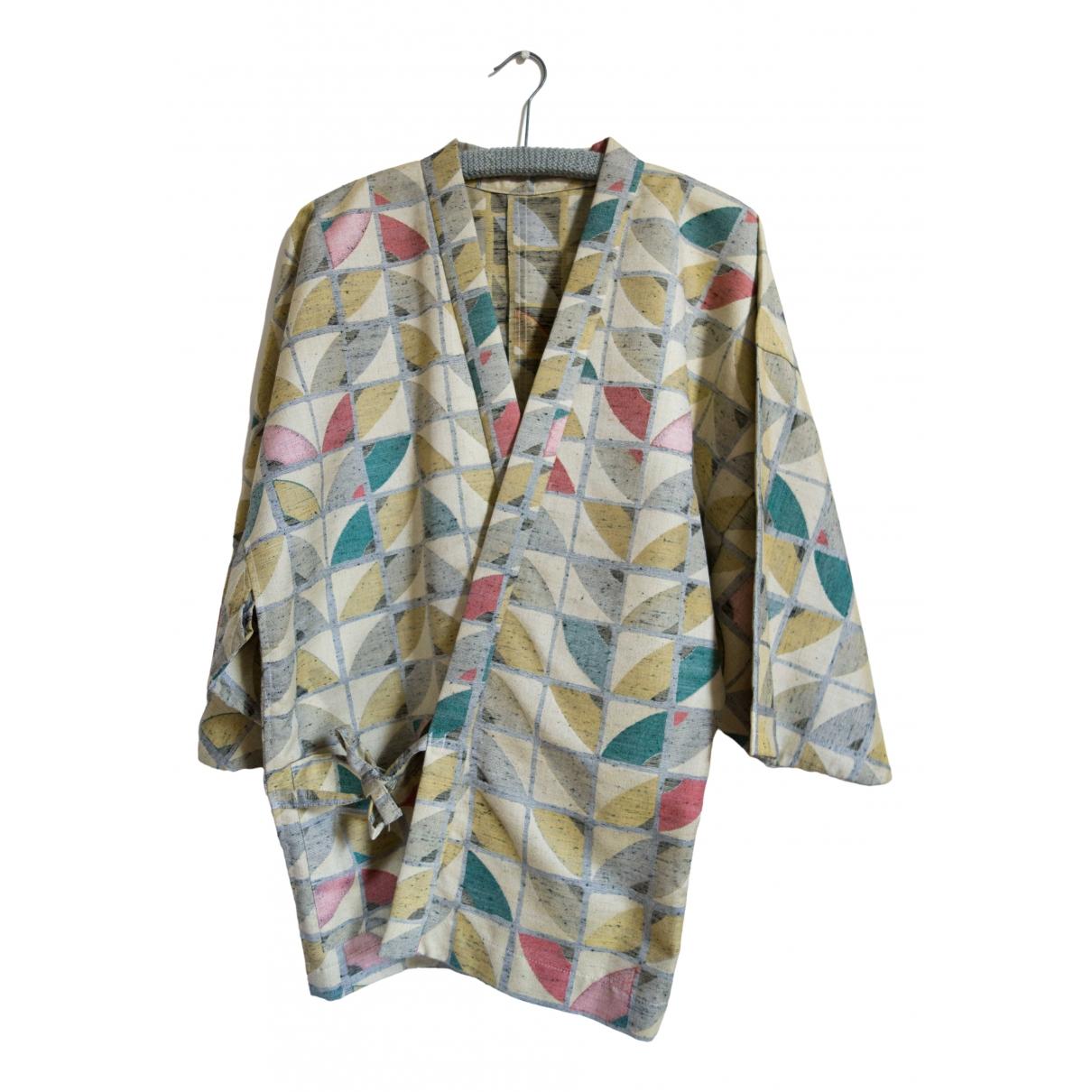 Non Signé / Unsigned Oversize Multicolour Cotton  top for Women M International