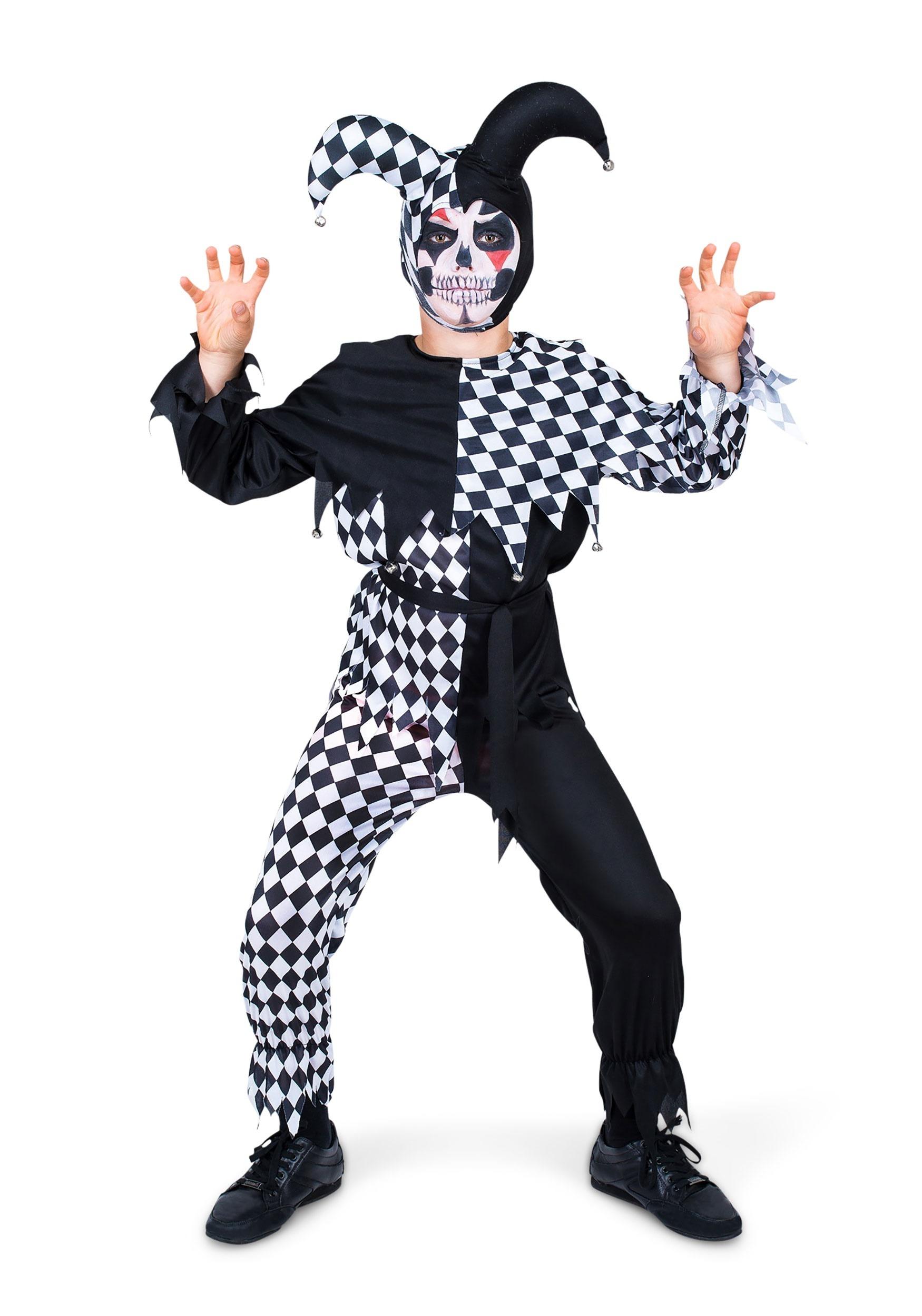 Child Evil Jester Costume