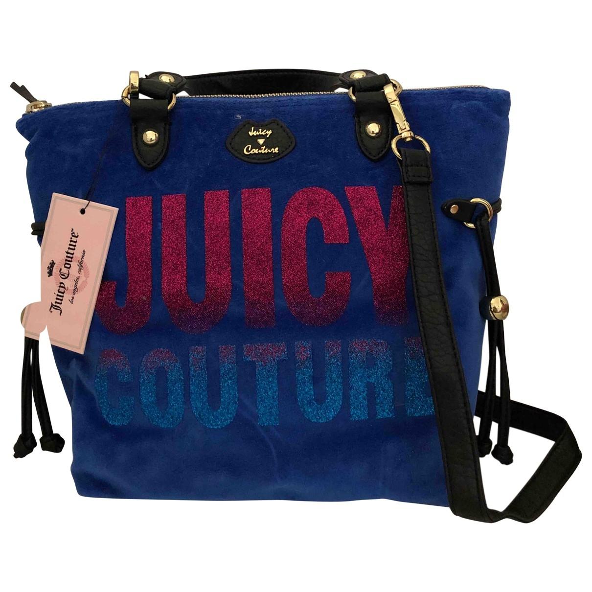 Juicy Couture \N Blue Velvet handbag for Women \N