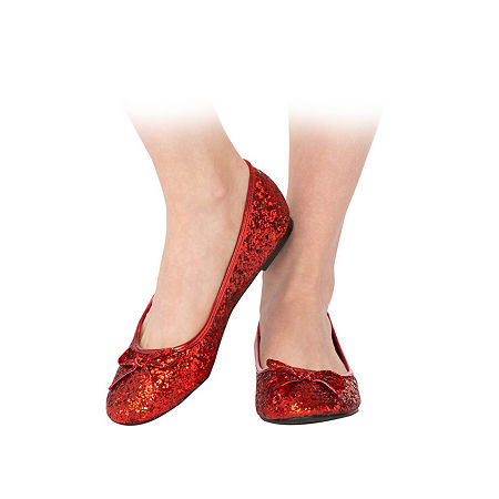 Adult Red Glitter Shoe Costume, 8 , Red