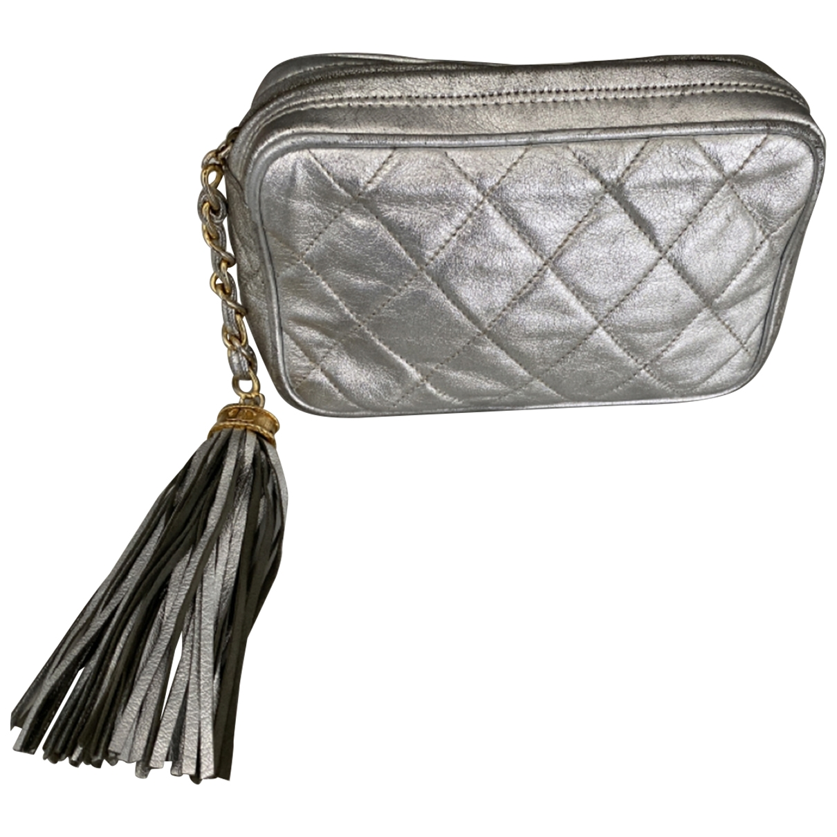 Chanel \N Silver Leather Clutch bag for Women \N
