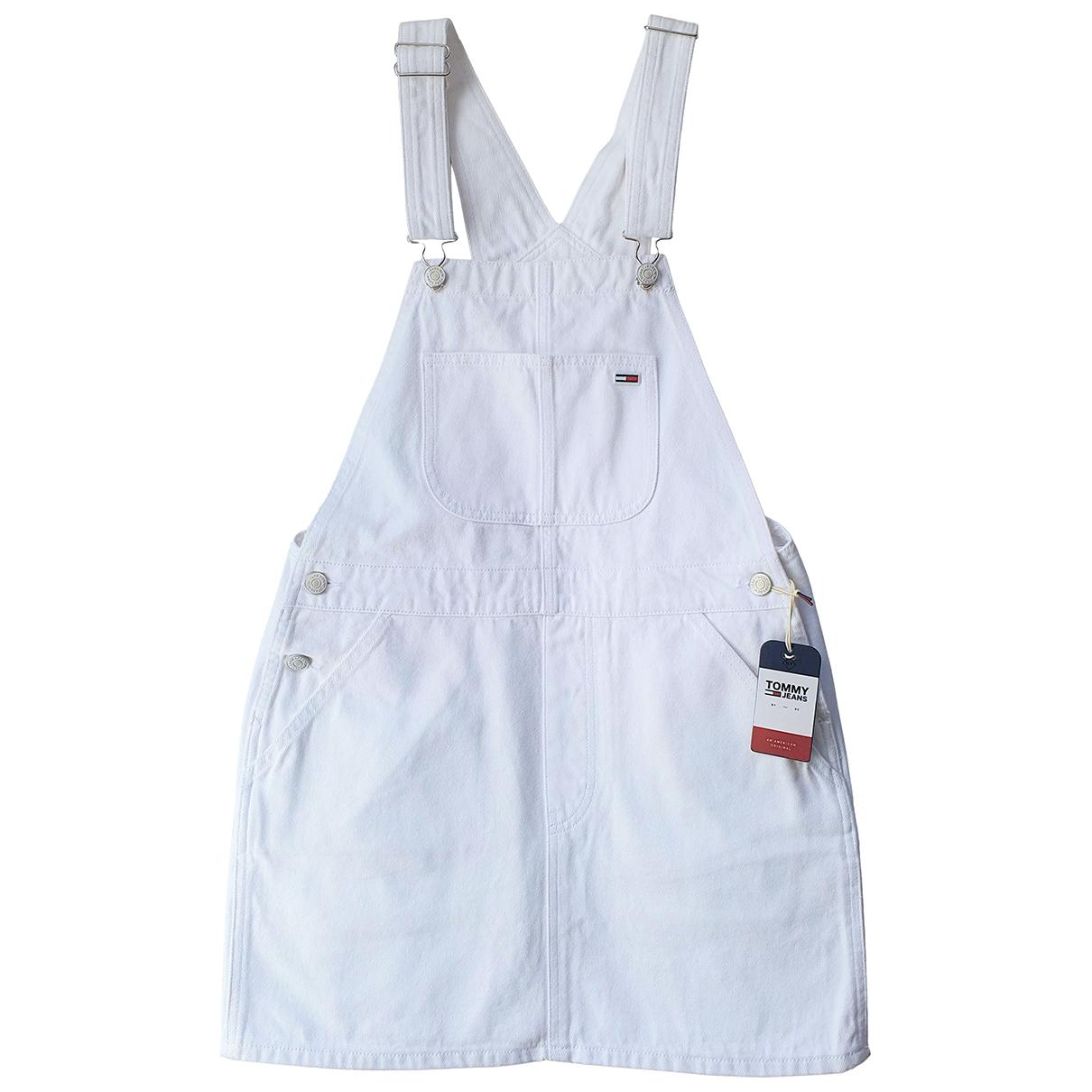Tommy Jeans \N Kleid in  Weiss Baumwolle