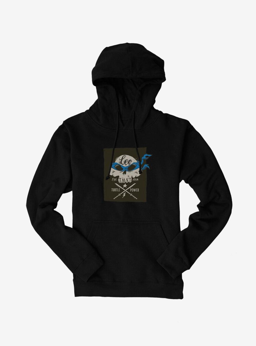 Teenage Mutant Ninja Turtles Leonardo Bandana Skull And Weapons Hoodie