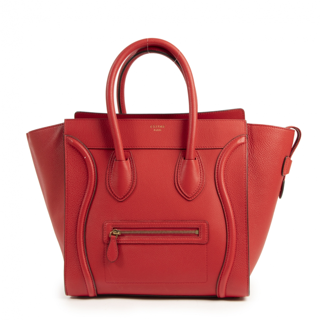 Celine Luggage Red Leather handbag for Women \N
