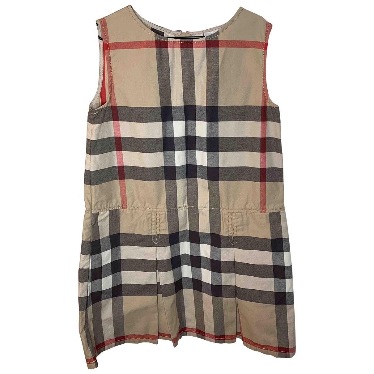 Burberry - Robe    pour enfant en coton - multicolore