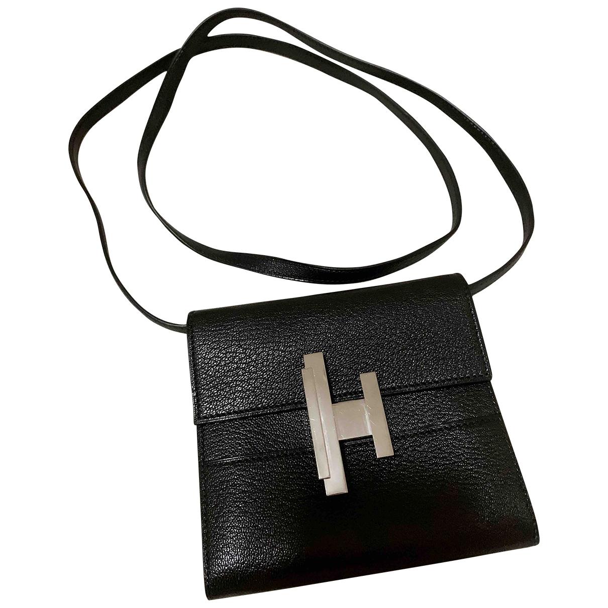 Hermes Cinhetic Handtasche in  Schwarz Leder