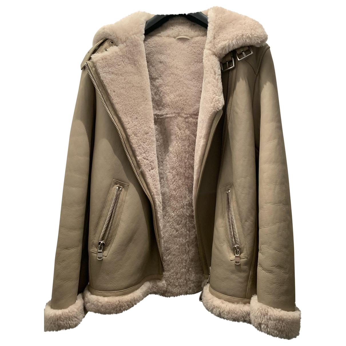 Zapa - Manteau   pour femme en mouton - beige