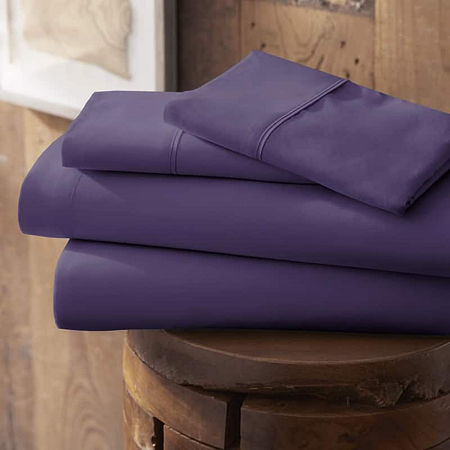 Casual Comfort Premium Ultra Soft Microfiber Wrinkle Free Sheet Set, One Size , Purple