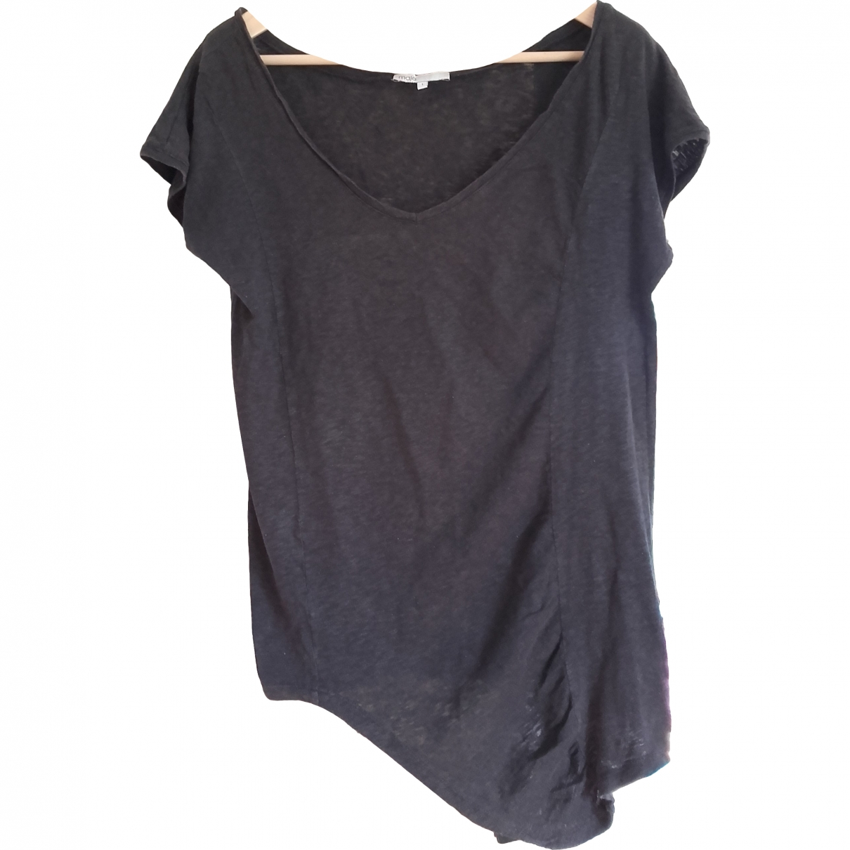 Maje \N Anthracite Cotton  top for Women 36 FR