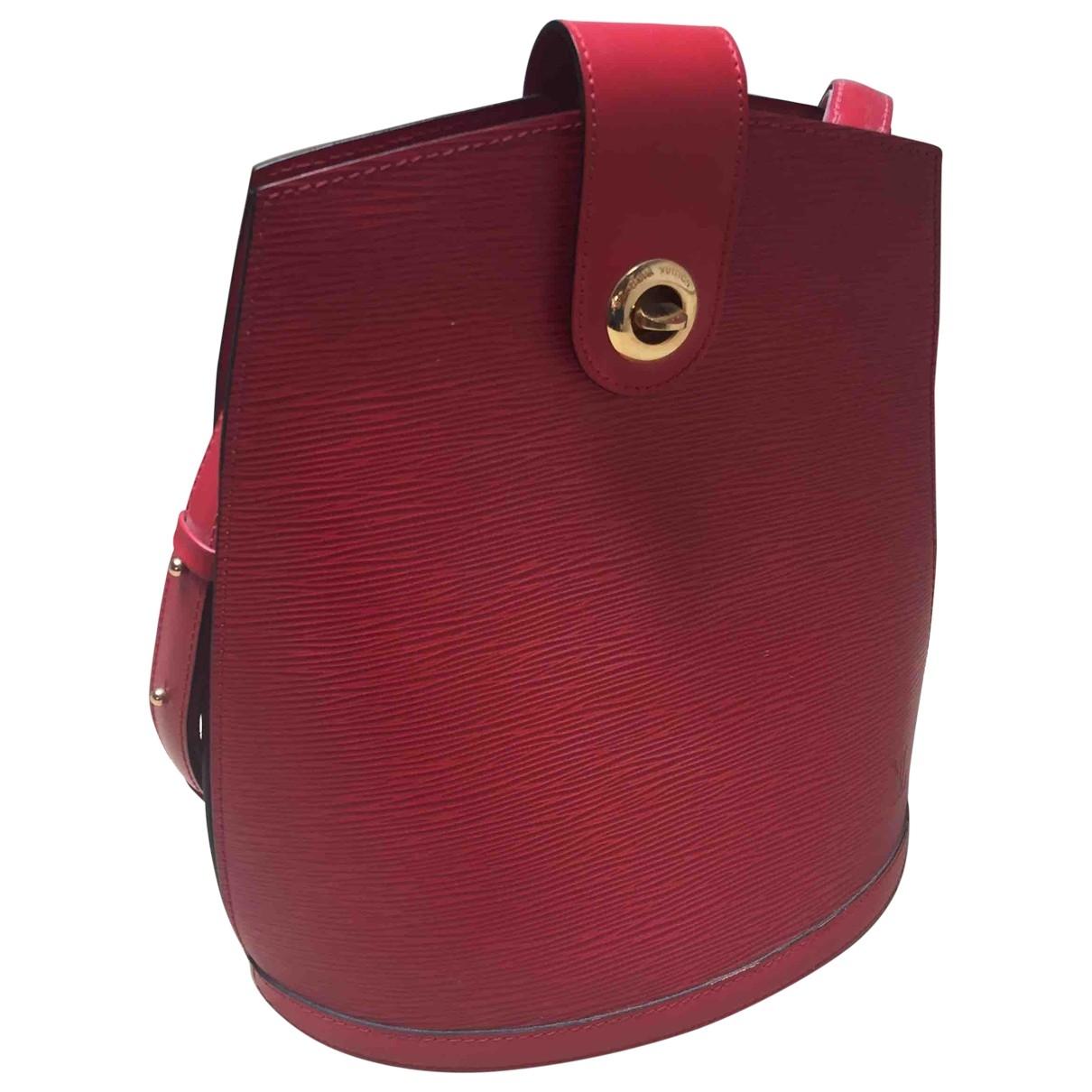 Louis Vuitton - Sac a main Cluny Vintage pour femme en cuir - rouge