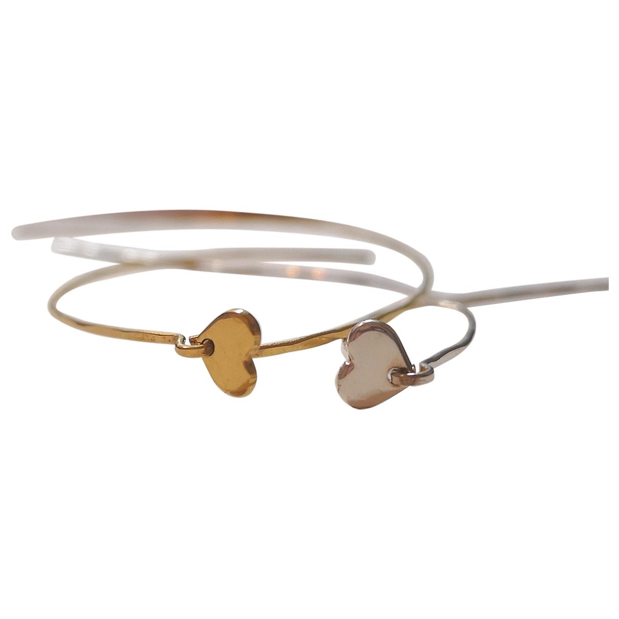 - Boucles doreilles Motifs Coeurs pour femme en or et acier - multicolore