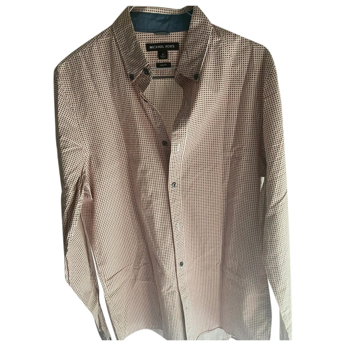 Michael Kors \N Hemden in  Rot Baumwolle